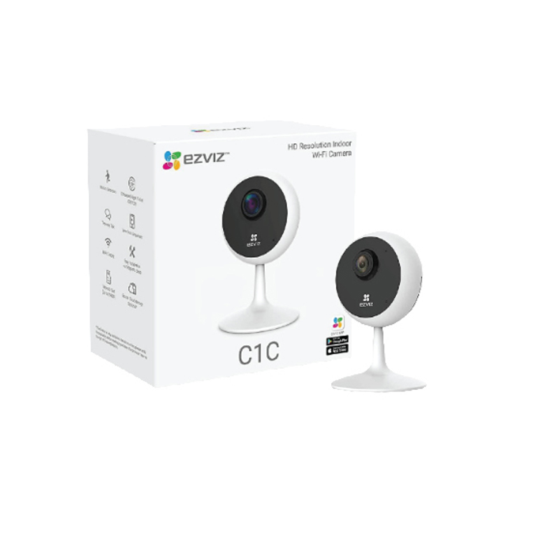 Ezviz C1C 720P HD Indoor 2.4G Wi-Fi Camera Support up to 256GB Wide-Angle Lens Night Vision Cloud Storage